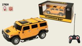 Іграшка машина на р/к 1:24 арт. 27020 Hummer H2, у кор. 20,5*9,5*7см