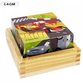 """Іграшка кубики дерев'яні """"Граємо разом"""" C-4-CAR Disney Тачки, 4 шт."""