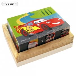 """Іграшка кубики дерев'яні """"Граємо разом"""" C-6-CAR Disney Тачки, 6 шт."""