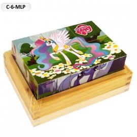 """Іграшка кубики дерев'яні """"Граємо разом"""" C-6-MLP My Little Pony,6 шт."""