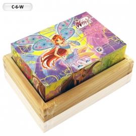 """Іграшка кубики дерев'яні """"Граємо разом"""" C-6-W Winx, 6 шт."""