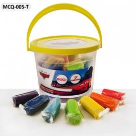Іграшка набір для творч. MCQ-005-T Тачки восковий пластил., 7 кольорів у банці