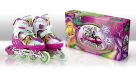Ролики RS0101 S(31-34) Disney Fairies.метал. рама, кліпса, шнурок, світло 1 колеса PU