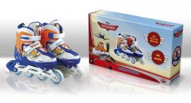 Ролики RS0104 M(35-38) Disney Planes.метал. рама, кліпса, шнурок, світло 1 колеса PU
