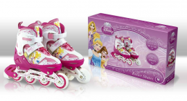 Ролики RS0105 S(31-34) Disney Princess.метал. рама, кліпса, шнурок, світло 1 колеса PU
