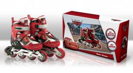 Ролики RS0107 S(31-34) Disney Сars.метал. рама, кліпса, шнурок, світло 1 колеса PU