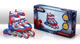 Ролики RS0109 S(31-34) Marvel Spider Man.метал. рама, кліпса, шнурок, світло 1 колеса PU