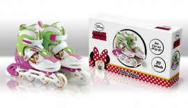 Ролики RS0112 M(35-38) Disney Minnie Mouse.метал. рама, кліпса, шнурок, світло 1 колеса PU