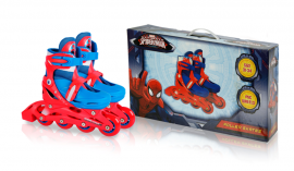 Ролики RS0117 р.31-34,Marvel Spider Man.пласт.рама,кліпса,колеса PVC