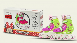 Ролики RS0118 р.30-33,Disney Minnie Mouse.пласт.рама,кліпса,колеса PVC