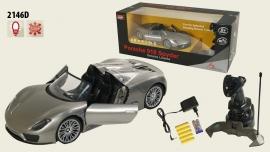 Іграшка машина на р/к 1:14 арт 2146D Porsche 918 вiдкр дверi, у кор.