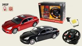 Іграшка машина на р/к 2022F Porsche Panamera, з рулем у кор.