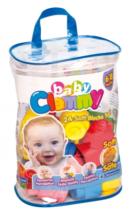 Конструктор Baby Clemmy кубики Арт.: 14889 (24 дет, у пакете)
