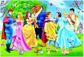 """Іграшка пазли ТМ """"Clementoni"""" арт.23656 Принцессы Бал 104 эл.MAXI"""