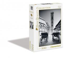 """Іграшка пазли ТМ """"Clementoni"""" арт.30347 Черно-белая Флоренция 500 эл."""