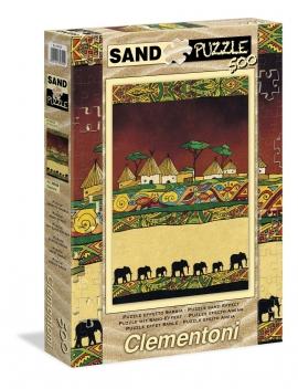 """Іграшка пазли ТМ """"Clementoni"""" арт.30350 Слоны 500 эл. Эффект песка"""