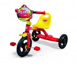 Велосипед 3-х колес 0205C Disney Сars (1шт),сумка, пластик.колеса