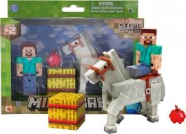 """Іграшка набір ТМ MINECRAFT фігурка з аксесуарами арт.16593 """"Steve із конем"""""""