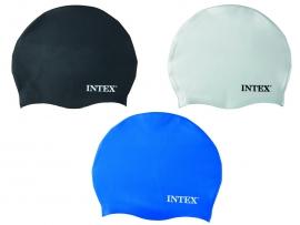 Шапочка для плавання INTEX арт. 55991 , сілікон, 8+років, 3 кол. 20см