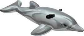 """Надувн. """"Дельфін"""" 58535 вініл, із ручками (3+ років), рем комплект, у кор. 175*66см"""