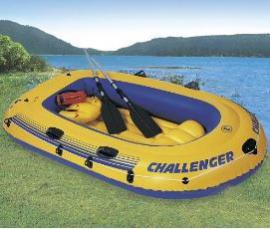 """Човен INTEX арт.   68370 """"Challenger"""" рефлене  дно весла насос"""