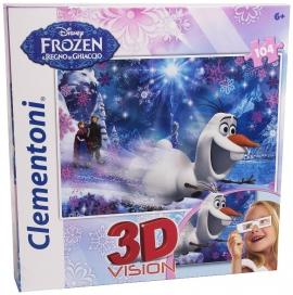"Іграшка пазли ТМ ""Clementoni"" арт.20602 FROZEN 3D 104 ел."