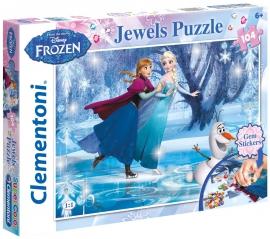 """Іграшка пазли ТМ""""Clementoni"""" арт. 20601 Frozen Jewels 104 ел."""