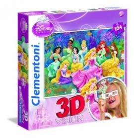 "Іграшка пазли ТМ""Clementoni"" арт.20097 Принцеси 3D 104 ел."
