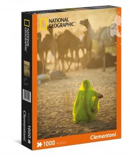 """Іграшка пазли ТМ""""Clementoni"""" арт.39302 National Geographic Жінка в пустині 1000 ел."""