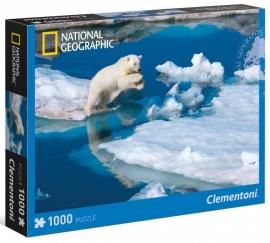 """Іграшка пазли ТМ""""Clementoni"""" арт.39304 National Geographic Білий ведмідь1000 ел."""