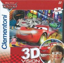 "Іграшка пазли ТМ ""Clementoni"" арт.20046 Тачки 3D 104 ел."