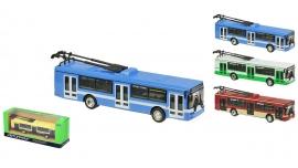 """Іграшка машина метал тролейбус 6407ABCD """"АВТОПРОМ"""",у кор.20*5,7*7,7см"""