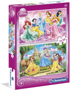 Пазлы Clementoni/Supercolor Disney Princess арт.: 07014 (2х20 эл)
