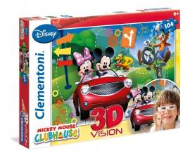 Пазлы Clementoni/Mickey Mouse арт.: 20605 (104 эл., 3D)