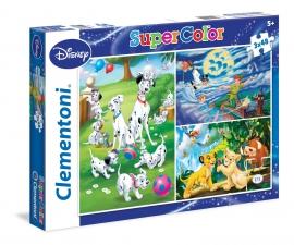 Пазлы Clementoni/Disney сlassiс арт.: 25212  (Supercolor, 3x48 эл.)