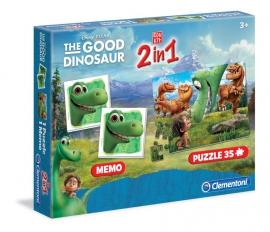 Набір 2в1 Сlementoni/Добрый динозавр арт.: 13075 (мемо, пазлы)