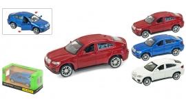 """Іграшка машина метал BMW X6 1:43 арт 67313  """"АВТОПРОМ"""",відкр дв,в кор. 14,2*7,2*6,5см"""