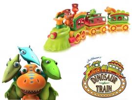 Новинка! Пластиковые и плюшевые игрушки по мотивам мультсериала «Поезд динозавров».