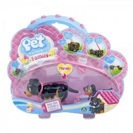 Игровой набор собака и щенок породы ротвейлер Pet Parade арт. PTF00000/UA/2