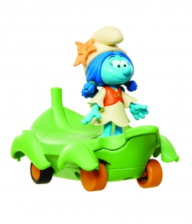 Игрушка инерционная арт. 30877 (30872) Smurfs Smurflily on Leafboard в блистере