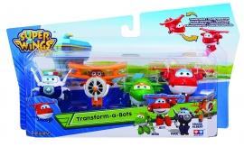 Игровой набор фигурки-трансформеры  Super wings арт. YW710610 Jett, Mira, Paul, Grand Albert