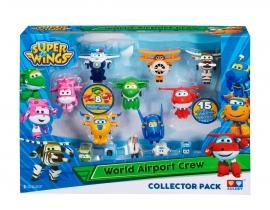 Игровой набор фигурки-трансформеры  Super wings арт. YW710640  World Airport Crew