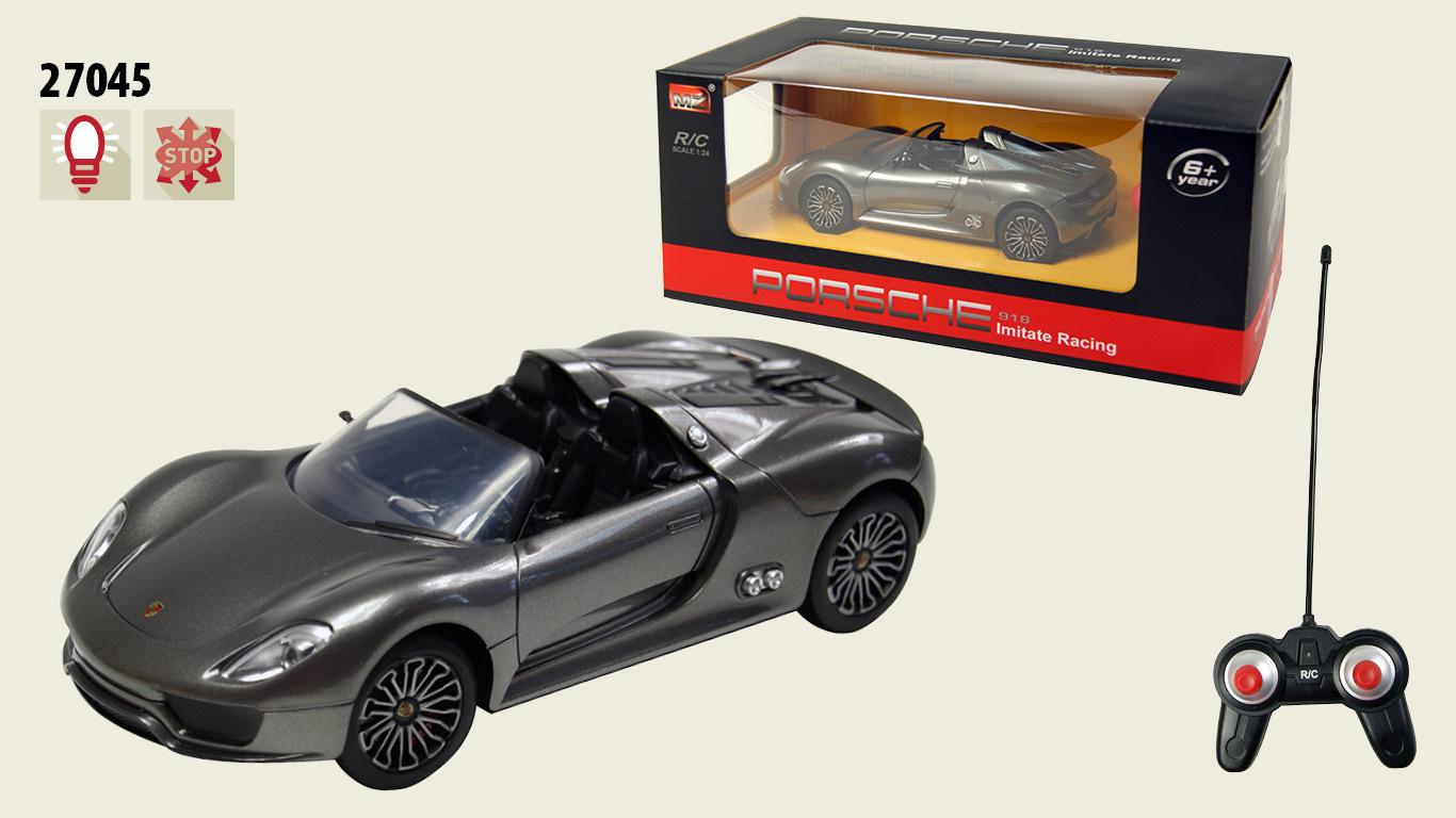 Іграшка машина на р/к 1:24 арт 27045 Porsche 918, у кор. 19*8*5см