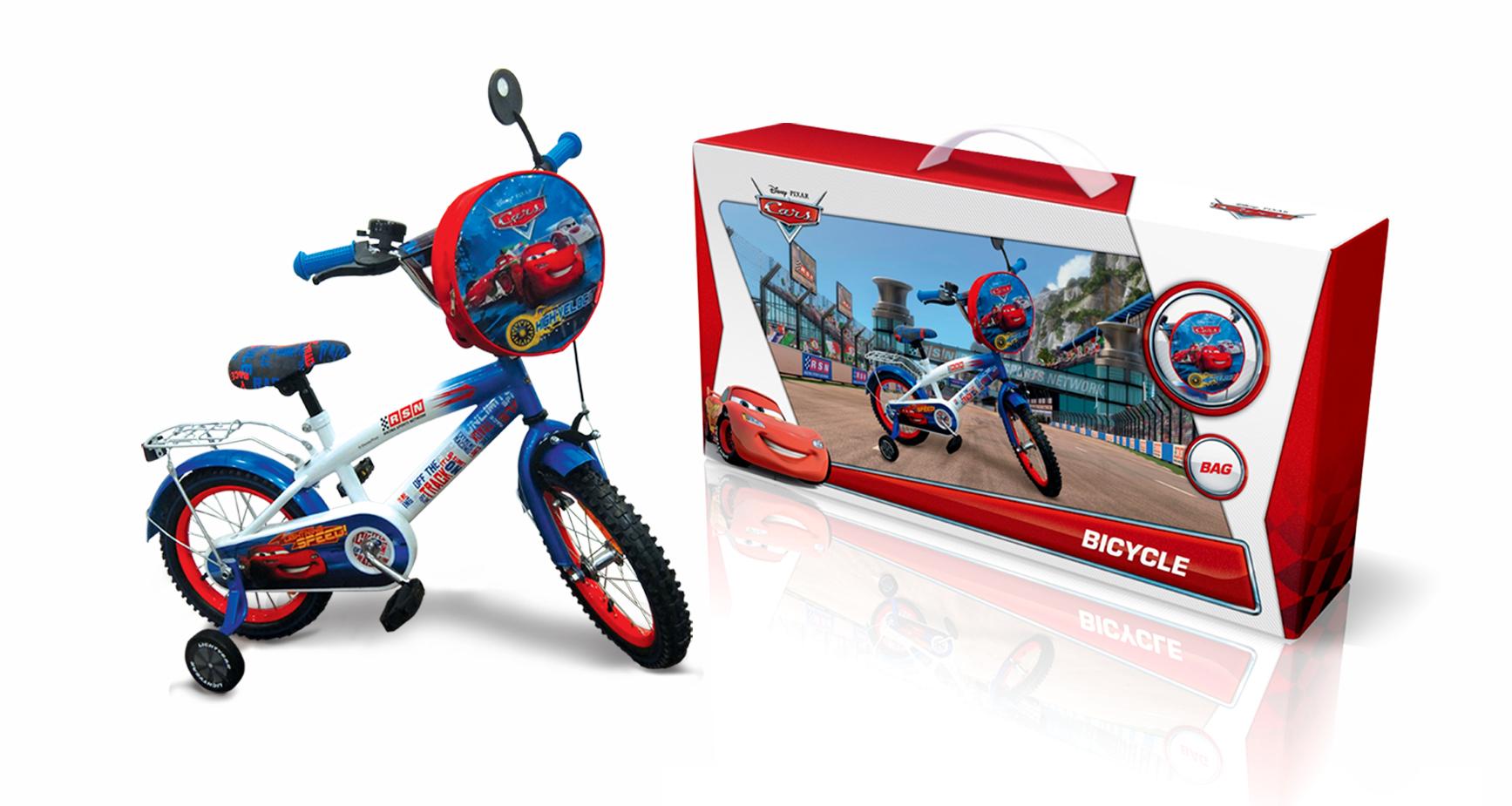 """Велосипед 2-х колес 14"""" C1401 Disney Сars. із дзвоником,дзеркалом"""