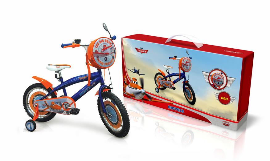 """Велосипед 2-х колес 14"""" PL1401 Disney Planes. із дзвоником,дзеркалом"""