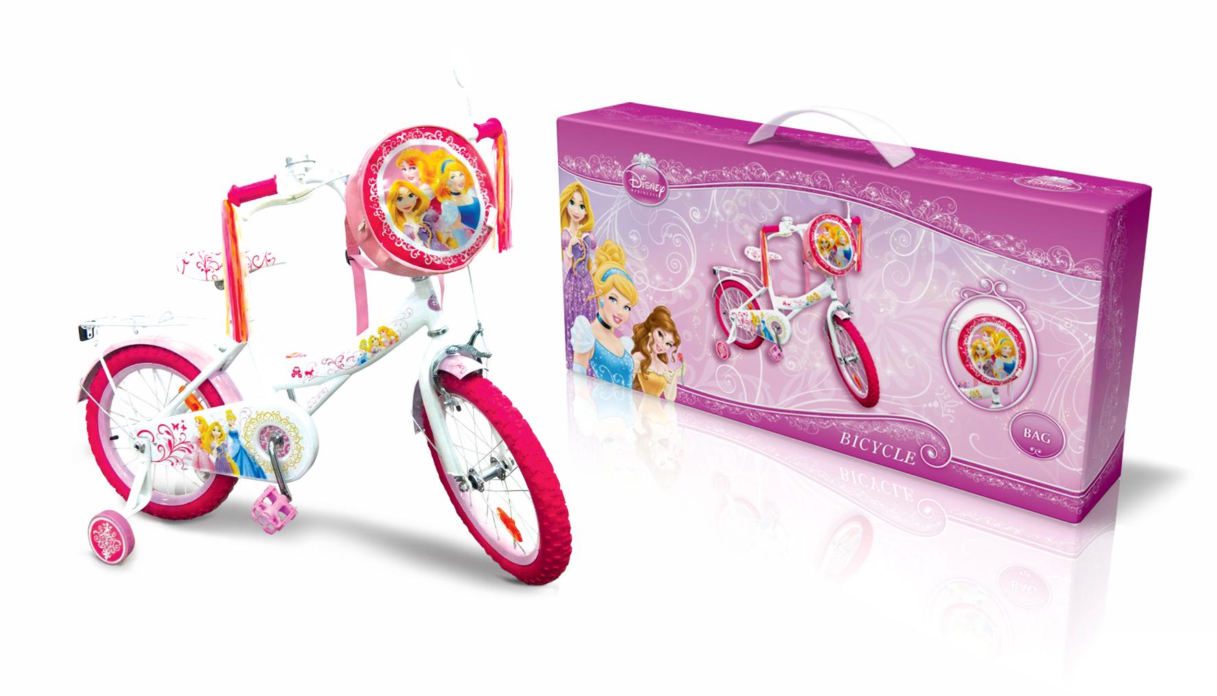 """Велосипед 2-х колес 16"""" PR1601 Disney Princess. із дзвоником,дзеркалом"""