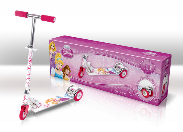 Самокат SD0101 Disney Princess.світло,50% алюм.,3 колеса PVC,амортизатор
