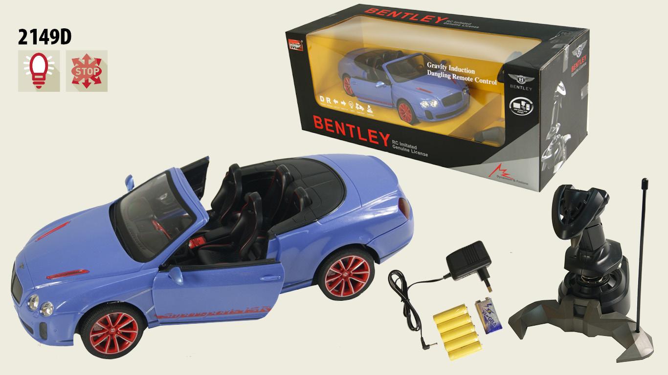 Іграшка машина на р/к 1:14  арт 2149D Bentley GT Supersport вiдкр дверi, у кор.