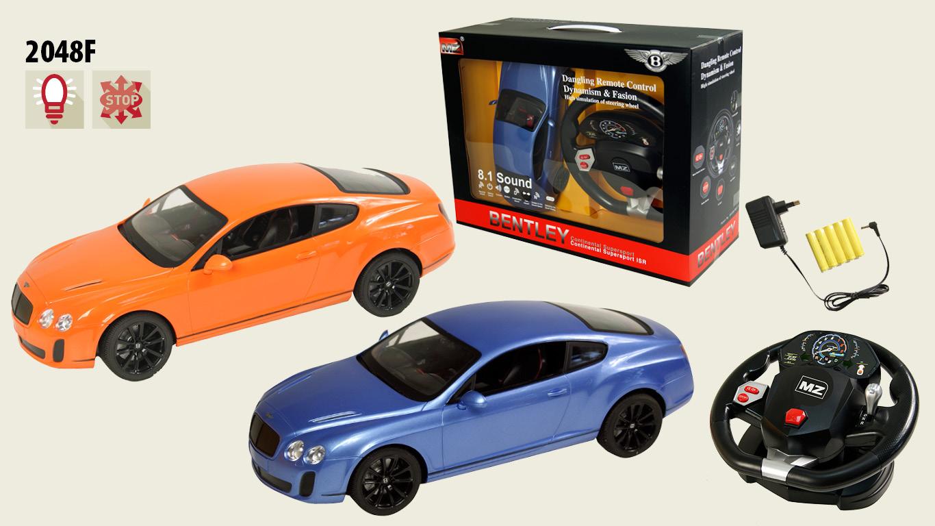 Іграшка машина на р/к 1:14 арт.2048F Bentley GT Supersport, з рулем у кор.