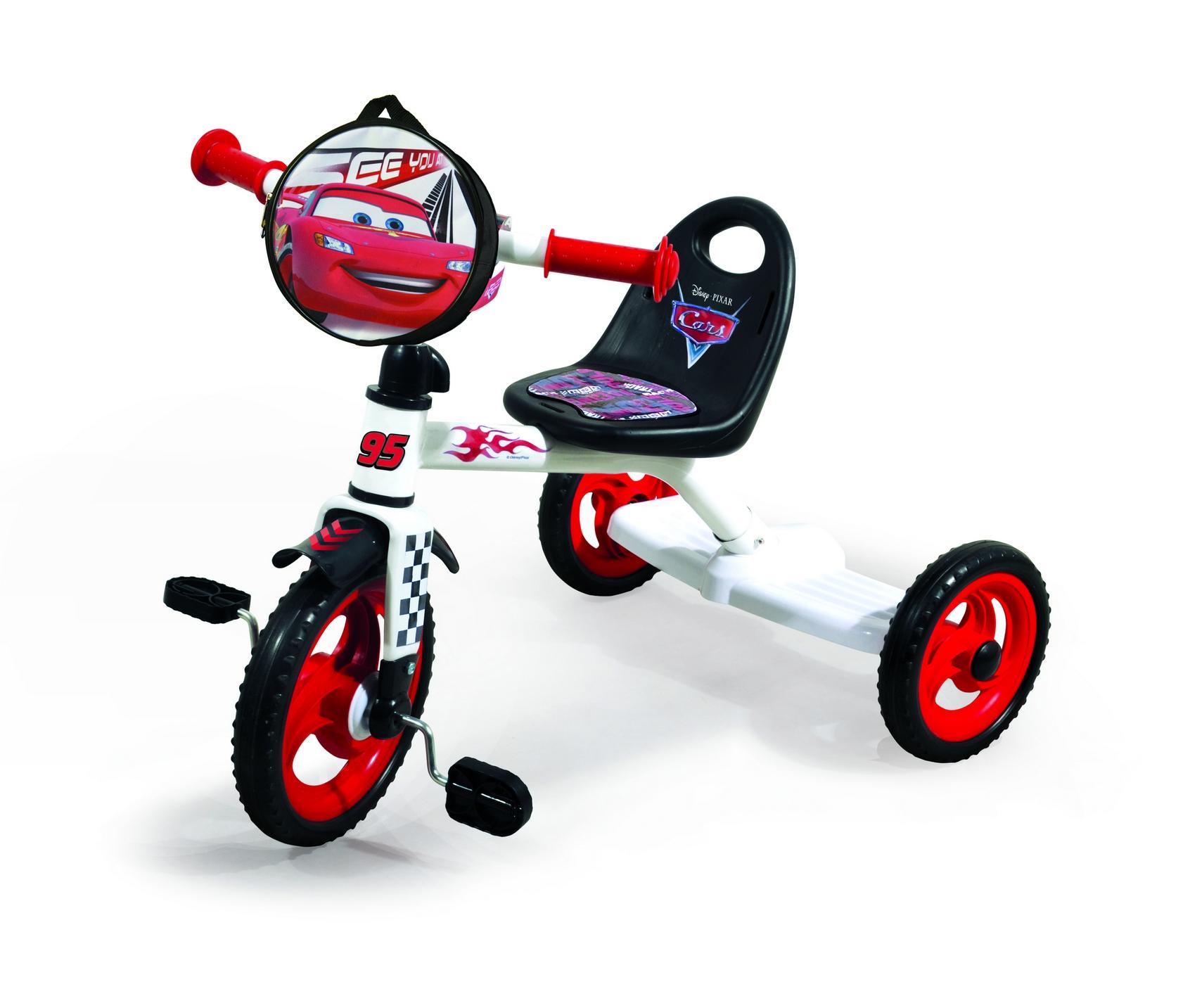 Велосипед 3-х колес 0205C2 Disney Сars (1шт),сумка, пластик.колеса